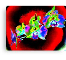 Psych Red Orchid Canvas Print