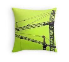 Crane Dance Throw Pillow