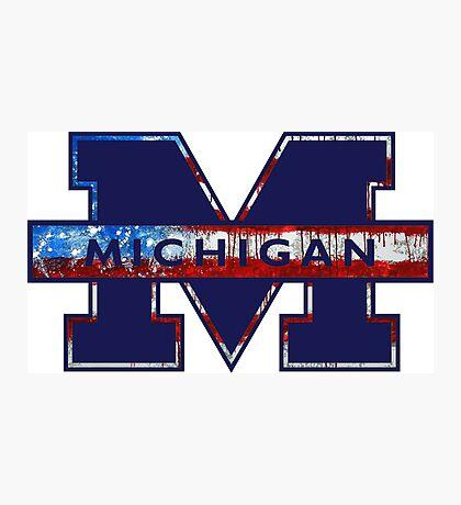 University of Michigan Logo Photographic Print