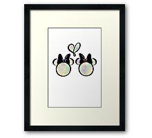 minnie & minnie - rainbow filling Framed Print