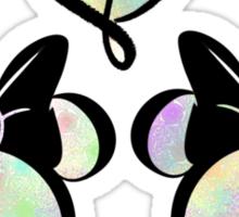 minnie & minnie - rainbow filling Sticker