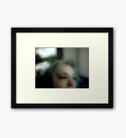 Contemplating Loss (Self-Portrait) Framed Print
