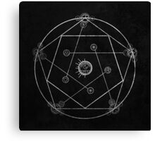 Reverse Transmutation Circle Canvas Print