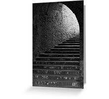 Mystic Stairway Tunnel Greeting Card