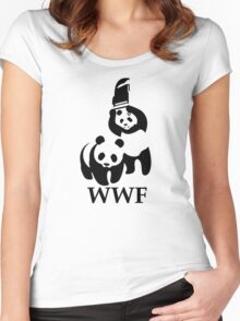 Funny Bear WWF Women's Fitted Scoop T-Shirt