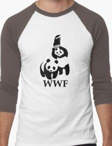 Funny Bear WWF Men's Baseball ¾ T-Shirt