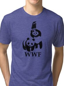 Funny Bear WWF Tri-blend T-Shirt