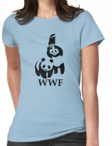 Funny Bear WWF Womens Fitted T-Shirt