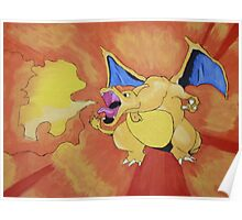 Charizard spewing the fire Poster