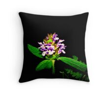 Blooming at Night Throw Pillow