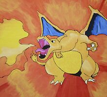 Charizard spewing the fire by Kinuckles