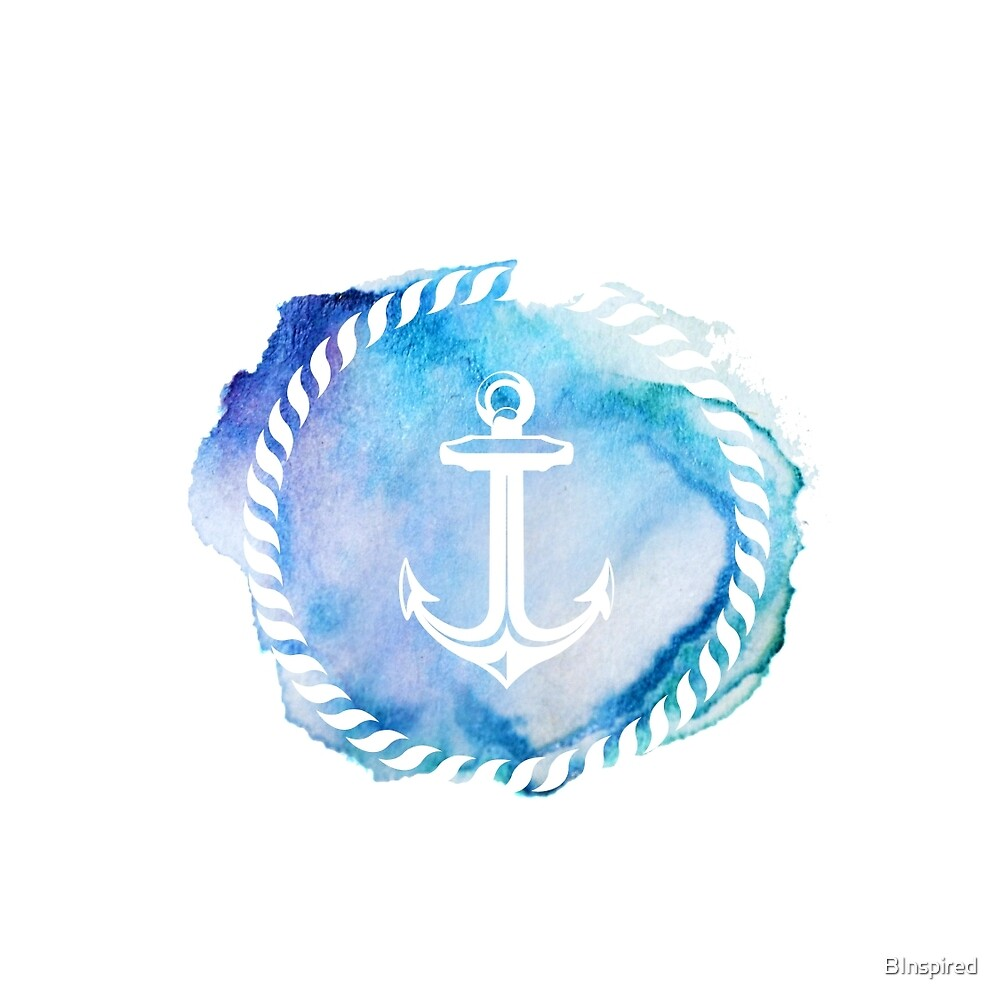 """""""Watercolor Anchor"""" by BInspired 