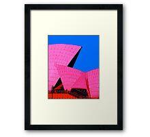 Tickled Pink Sydney Opera House Framed Print