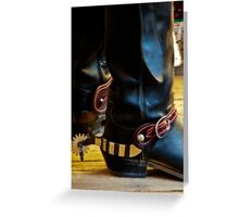 Boots and Spurs Greeting Card