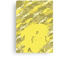 Camouflage Bob (Yellow) Canvas Print
