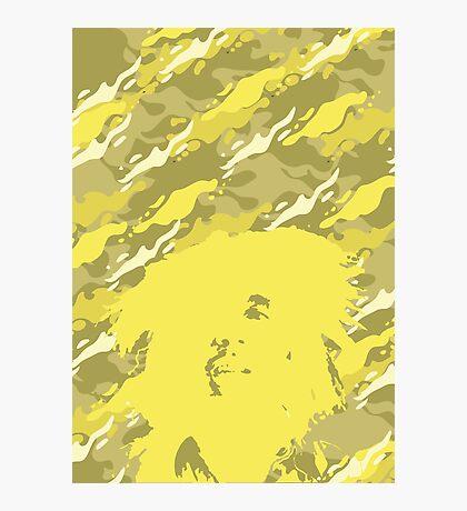 Camouflage Bob (Yellow) Photographic Print