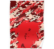 Camouflage Bob (Red) Poster