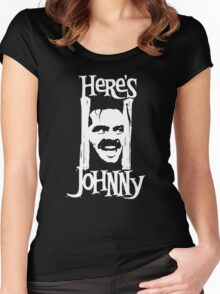Heres Johnny The Shining Kubrick Women's Fitted Scoop T-Shirt