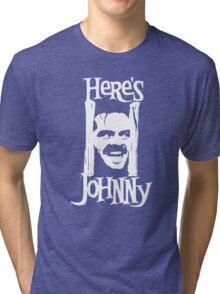 Heres Johnny The Shining Kubrick Tri-blend T-Shirt