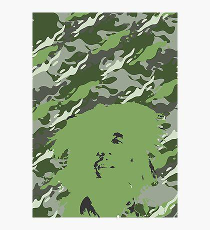 Camouflage Bob (Green) Photographic Print
