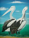 Pelicans by Linda Callaghan