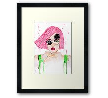 Pastel Steampunk Girl Framed Print