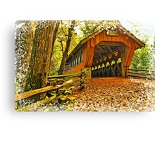 Covered Bridge,Little Hope Wisconsin #2 Canvas Print