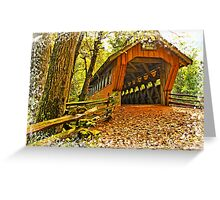 Covered Bridge,Little Hope Wisconsin #2 Greeting Card
