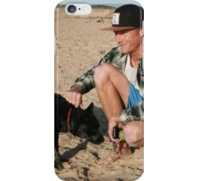 30. Chris & his Cattle-Staffy dog Bluey iPhone Case/Skin