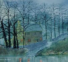 MIDGE HALL BY MOONLIGHT by Glenn Marshall