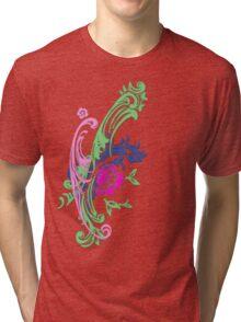 Pretty Abstract Floral T shirt Tri-blend T-Shirt
