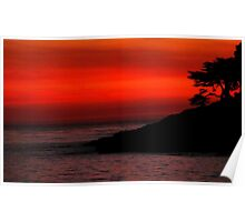 #1113  Sunset In Santa Cruz Poster