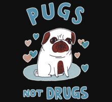 Pugs Not Drugs Kids Tee