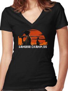 Samurai Champloo Women's Fitted V-Neck T-Shirt