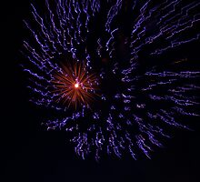 Purple Haze Fire Works display by kodakcameragirl
