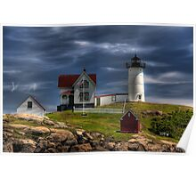 The Light at Cape Neddick Poster