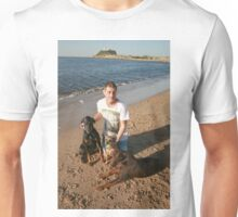 29. Alan with Dobermans & Border Terrior: Mischa, Jazz & Poppy Unisex T-Shirt