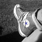 Blue Stared Converse by Allison Aboud