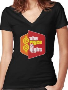 The Price Is Right Game Show Women's Fitted V-Neck T-Shirt