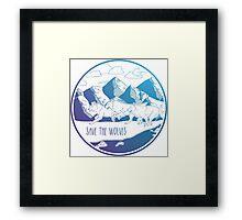 Save the Wolves! Framed Print