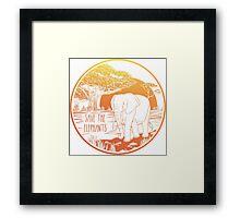 Save the Elephants! Framed Print