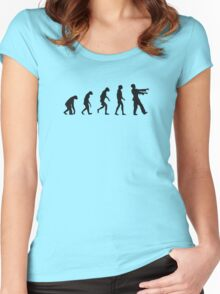 Evolution of Zombies (Zombie Walking Dead) Women's Fitted Scoop T-Shirt