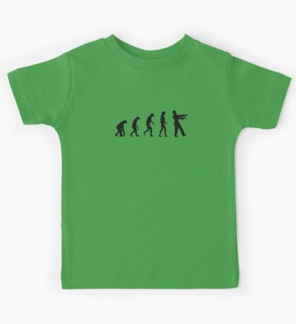 Evolution of Zombies (Zombie Walking Dead) Kids Tee