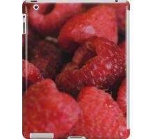 Red Raspberries Macro iPad Case/Skin