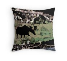 Meandering Moose Throw Pillow