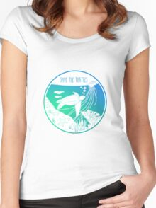 Save the Turtles! Women's Fitted Scoop T-Shirt