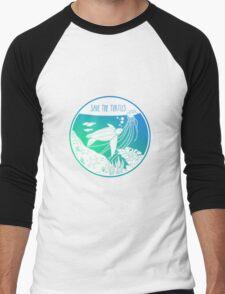 Save the Turtles! Men's Baseball ¾ T-Shirt