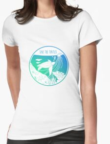 Save the Turtles! Womens Fitted T-Shirt