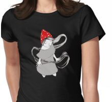 Little Gnome Girl with Mushroom Cap Womens Fitted T-Shirt