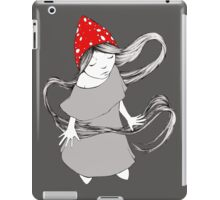 Little Gnome Girl with Mushroom Cap iPad Case/Skin